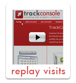 Demo web analytics replay visits TrackConsole